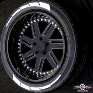 SAWBLADEZ TIRE GRAPHICS WHITE
